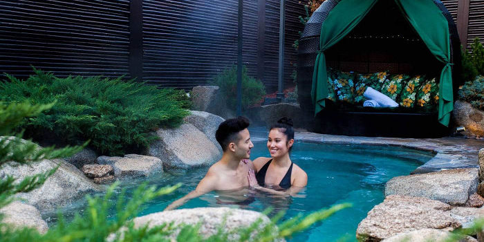 outdoor bathing day spa packages japanese mountain retreat